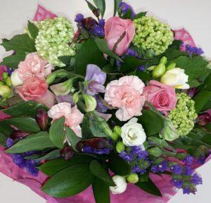 Perfect Pink Posy in Vase