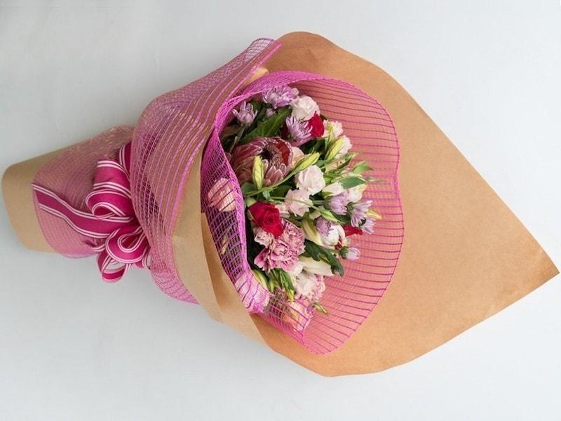 Florists choice pretty pink bouquet ilam florist mightylinksfo